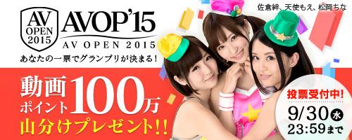 AV OPEN 2015では総合グランプリ~総合5位までをユーザー投票にて決定いたします。