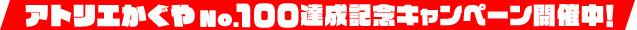 アトリエかぐや No.100達成記念キャンペーン開催中!