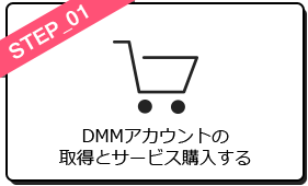 DMMアカウントの取得とサービス購入する