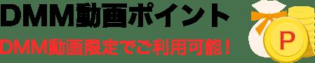 DMM動画ポイント DMM動画限定でご利用可能!