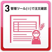 3.管理ツール(※)で注文確認