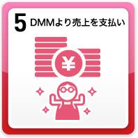5.DMMより売り上げを支払い