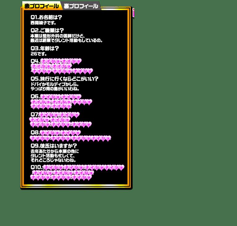 西岡綾子 表プロフィール