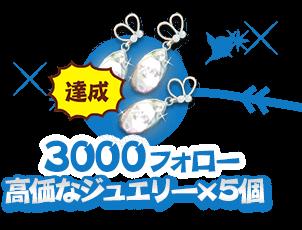 1000フォロー:甘いケーキ×5個