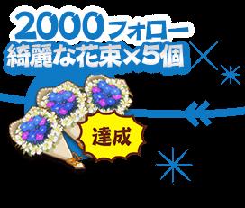 2000フォロー:綺麗な花束×5個