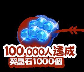 80000人達成 契晶石1000個