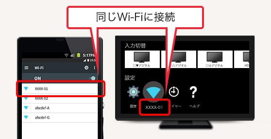 同じWi-Fiに接続