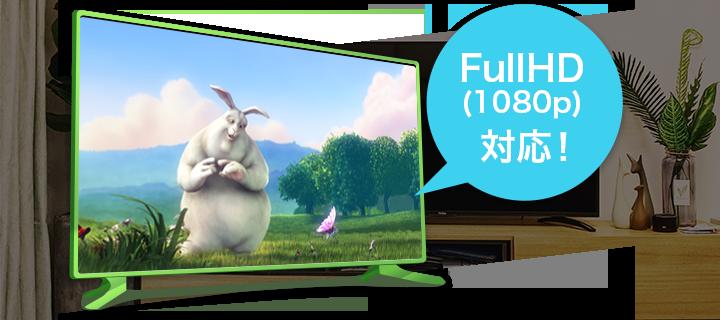 フルHD(1080p)対応!